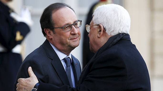 Hollande and Abbas discuss the Middle East conflict
