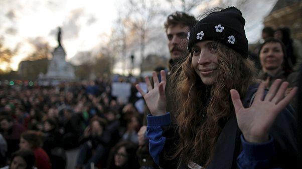 درگیری میان پلیس و معترضان در جریان اعتراضات شبانه در پاریس