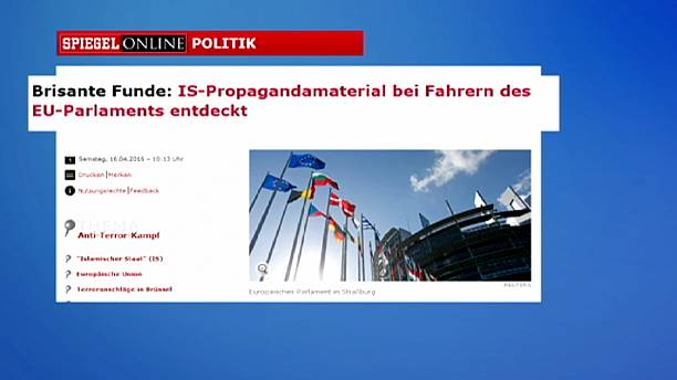 Two European parliament drivers carrying ISIL propaganda - reports