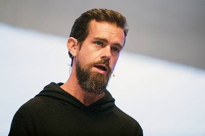 Jack Dorsey, CEO of Twitter speaks at the digital fair DMEXCO in Cologne, Germany on Sept. 13, 2017.