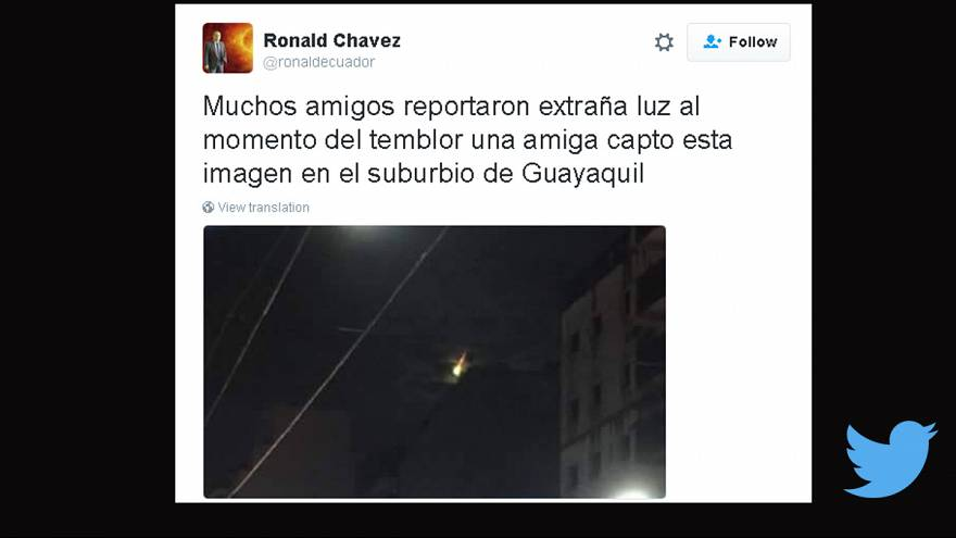 Ecuador: fake pictures of lightning before the earthquake go viral