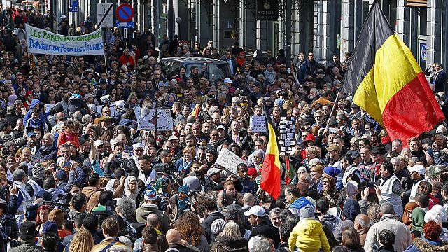 مسيرة في بروكسل ضد الإرهاب والكراهية