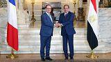 Egyiptom: a francia elnök felvetette az emberi jogok kérdését