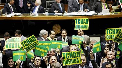 Brazilian lawmakers vote in favor of Rousseff's impeachment