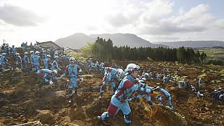 Race against time for survivors after Japan quakes