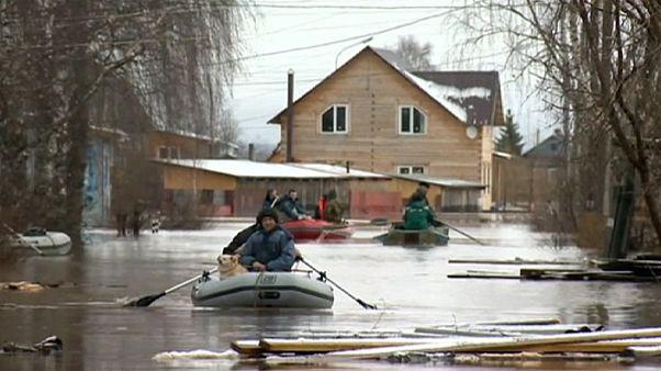 فيضانات في روسيا
