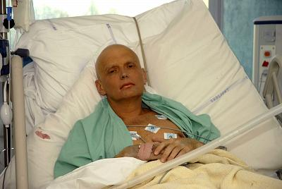 Alexander Litvinenko receiving treatment at a London hospital on Nov. 20, 2006.