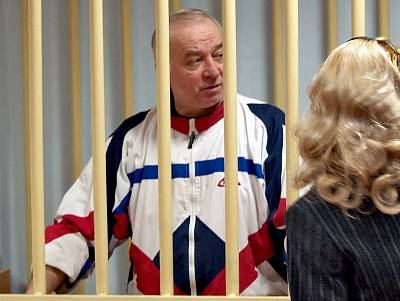 Sergei Skripal during a hearing in a Moscow court in 2006.