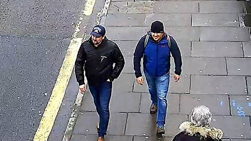Image: Ruslan Boshirov and Alexander Petrov on Fisherton Road, Salisbury, E