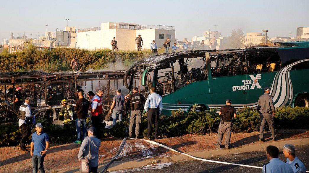Al menos 15 heridos en una explosión en un autobús en Jerusalén