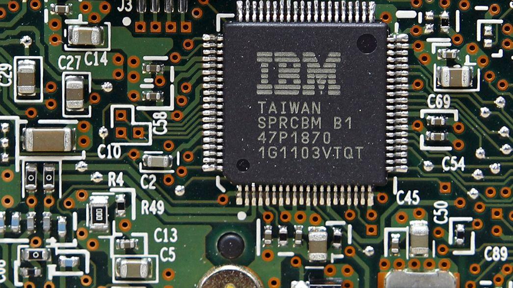 A IBM teve o pior trimestre em catorze anos.