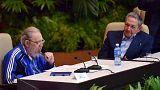 راؤول كاسترو يترأس الحزب الشيوعي الكوبي لفترة جديدة