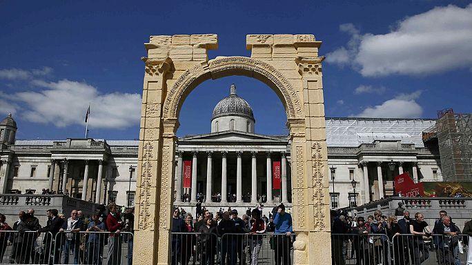 В Лондоне воссоздана копия разрушенной в Пальмире Триумфальной арки