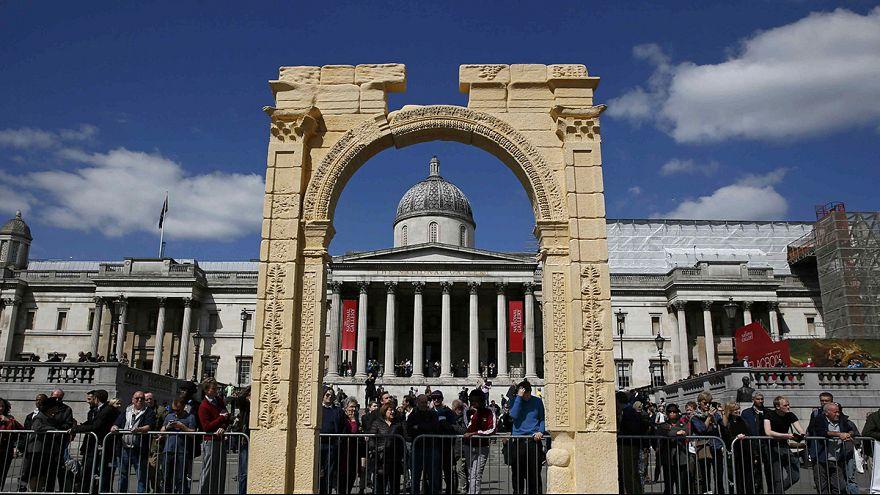 London: Nachbildung von Triumphbogen aus Palmyra enthüllt