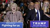 Hillary Clinton et Donald Trump vainqueurs des primaires de l'État de New York