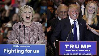 هيلاري كلينتون ودونالد تْرامب يفوزان في الانتخابات التمهيدية في نيويورك