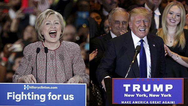 Primárias EUA: Donald Trump e Hillary Clinton vencem em Nova Iorque