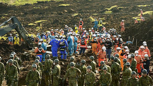 Services resume in southern Japan after earthquakes though shortages remain