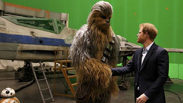 Prince Harry meets Chewbacca