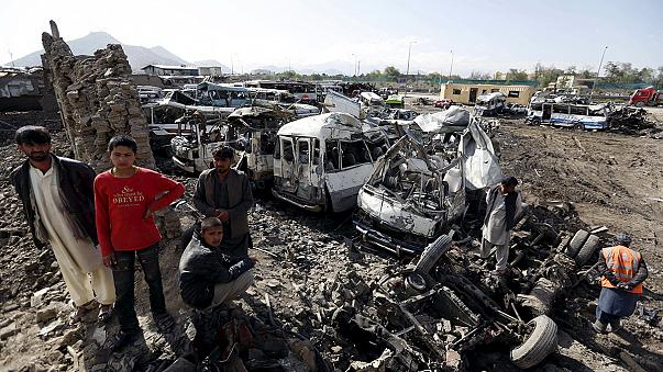 Death toll of Kabul suicide bombing rises sharply