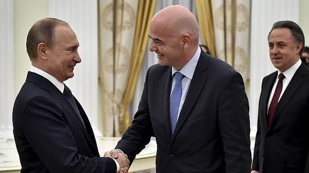 Fifa boss Infantino meets Putin in Moscow ahead of 2018 World Cup