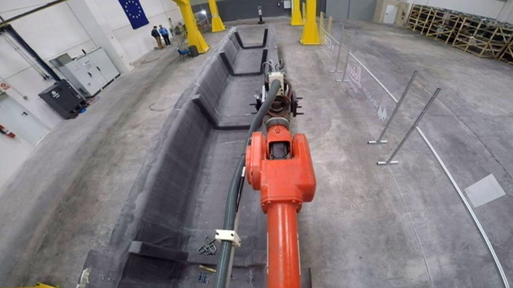 Lézerirányítással működik a világ legnagyobb ipari robotja