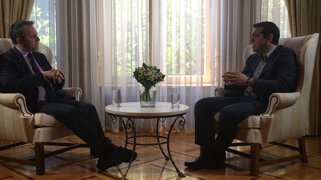"""Tsipras: """"Grecia necesita un empujón hacia adelante, no hacia atrás"""""""