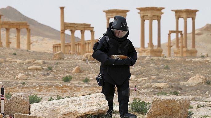 Російські вояки у Сирії звітували про розмінування Пальміри