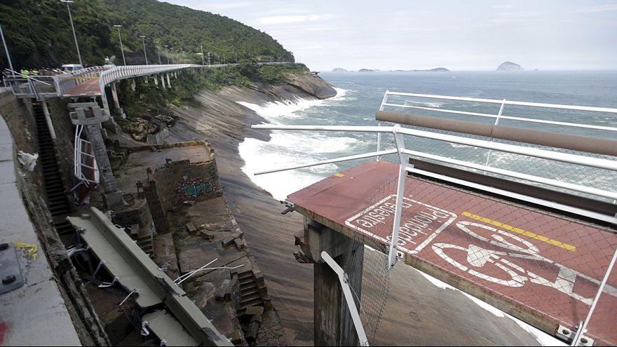 Brezilya'da Olimpiyat Oyunları için inşa edilen bisiklet yolu çöktü