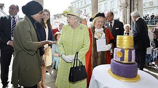 Beacons lit across UK to mark Queen's 90th birthday