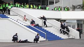 Terrorist attack simulation in Cannes before film festival