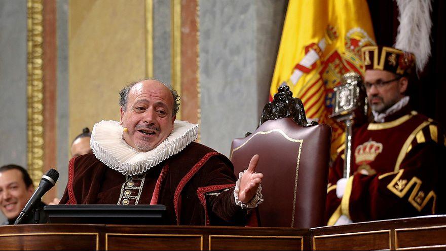 Espanha: Parlamento presta homenagem a Cervantes