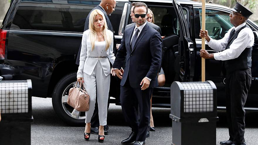 Image: George Papadopoulos arrives at U.S. District Court in Washington