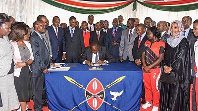 Kenya's President Uhuru Kenyatta signs anti-doping bill into law