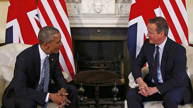 """البريطانيون المشككون باوروبا ينددون بتدخل اوباما """"غير المرحب به"""""""