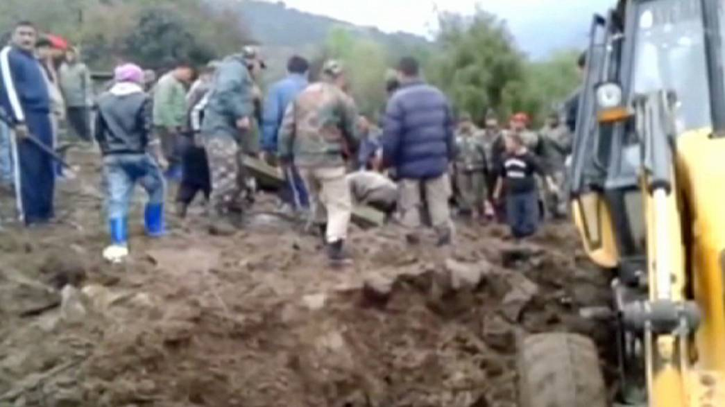 At least 16 people killed after heavy rain triggers landslide in India