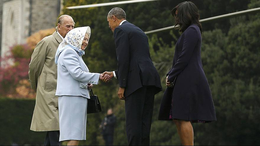 Obama given the royal treatment in Britain