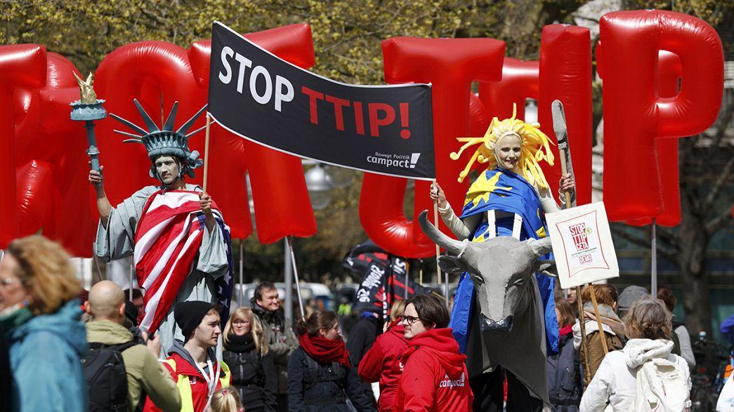 #ttipdemo : Protest in Hannover und im Internet
