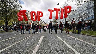 L'Allemagne manifeste contre le TTIP avant la venue de Barack Obama