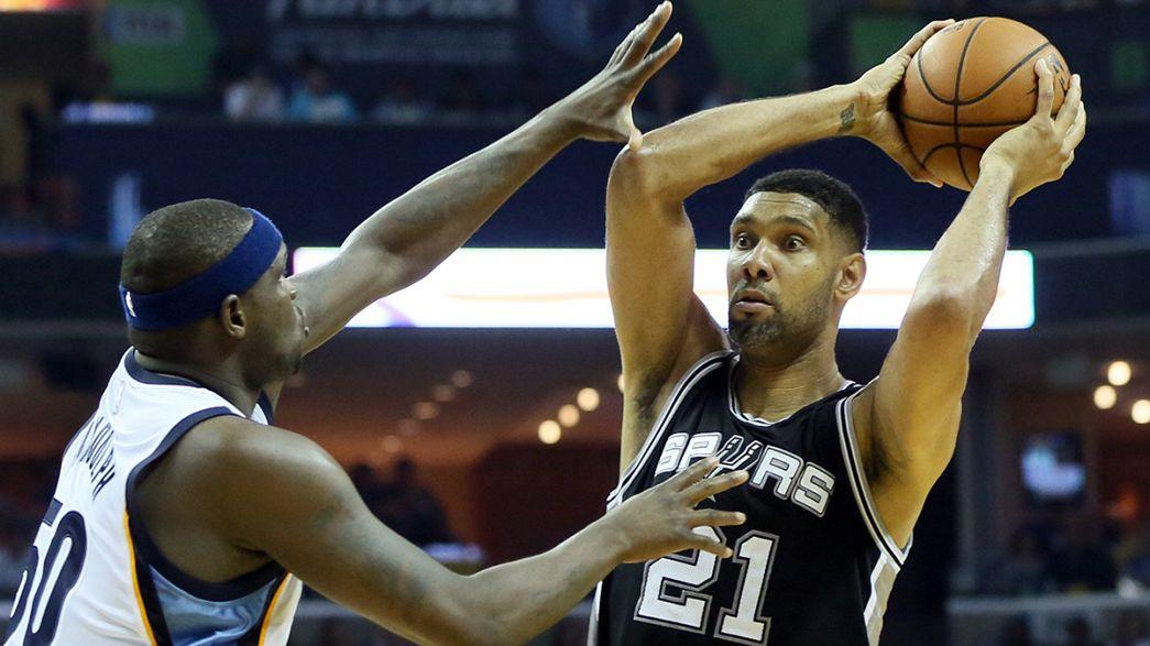 NBA: San Antonio Spurs mit einem Bein in der nächsten Runde