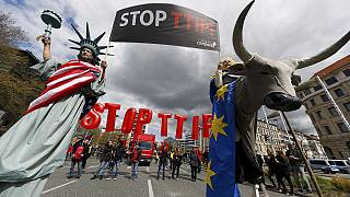 Allemagne: 35 000 manifestants contre le TTIP à la veille de l'arrivée d'Obama