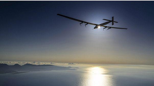 Güneş enerjili uçak Pasifik'i geçti