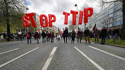 US-EU trade deal protests ahead of Obama visit – nocomment