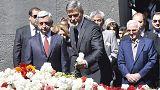 أرمينيا تحي ذكرى ما يسمى بإبادة الأرمن بحضور جورج كلوني وشارل أزنفور