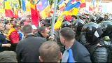 Violentas protestas anticorrupción en Moldavia