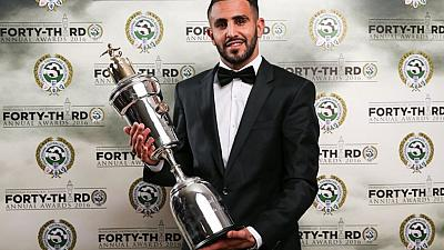 Algeria's Mahrez becomes first African to win PFA player of the year