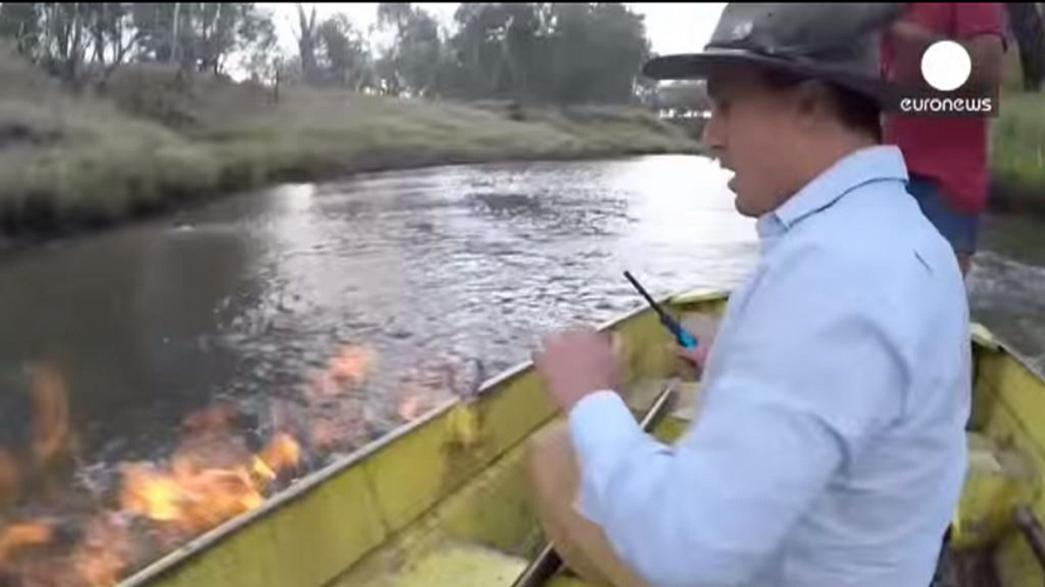 Rio de fogo na Austrália