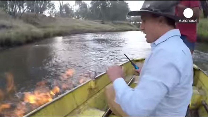 Australian MP sets a river on fire