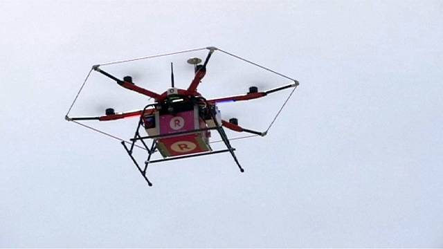Japon online perakende ağı Rakutin, drone kullanarak teslimata başlıyor