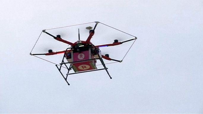 Rakuten представил службу доставки дронами